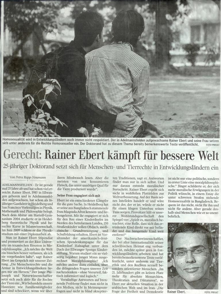 Gerecht: Rainer Ebert kämpft für eine bessere Welt