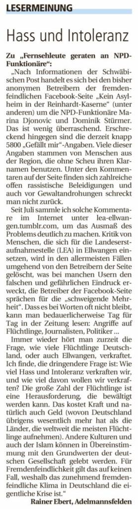 Schwaebische Post 05-11-15