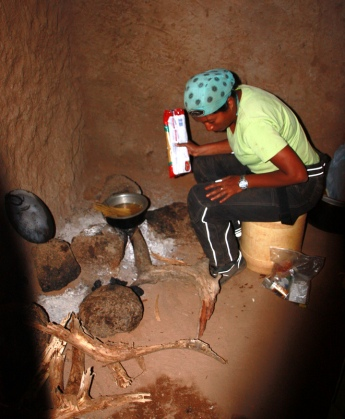 Khukie preparing dinner in Bubisa