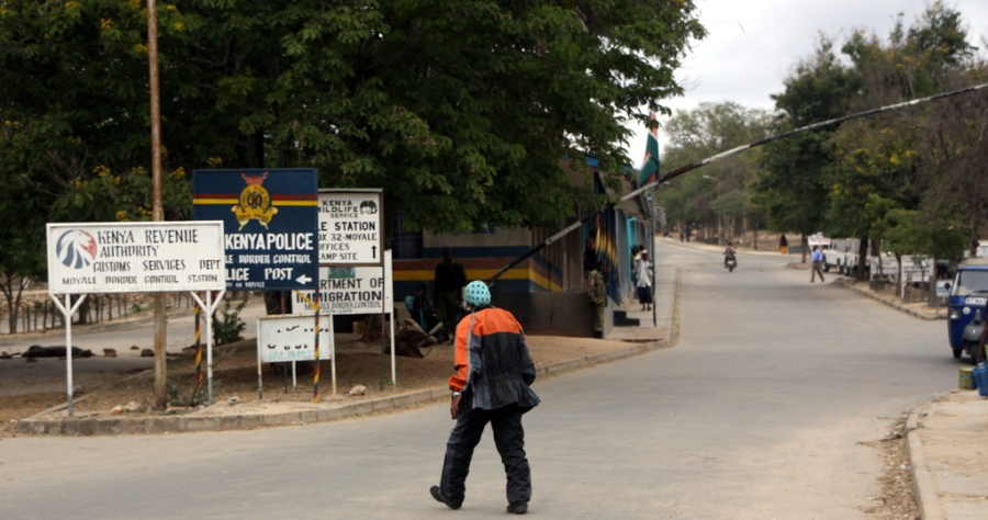 Crossing the border into Kenya