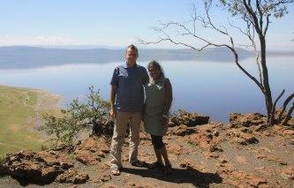 With Khukie at Lake Nakuru