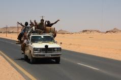 Car full of people in Wadi Halfa
