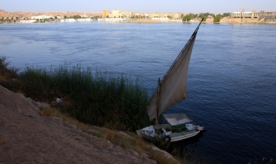 Felucca on the Nile at Aswan