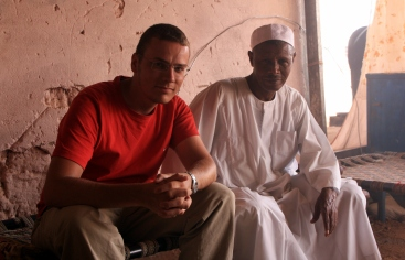 Having lunch in Khartoum with Ahmed