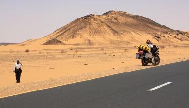In the Nubian Desert, somewhere between Wadi Halfa and the Sudanese capital of Khartoum
