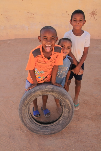 Kids playing in Wadi Halfa