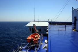 On the ferry from Venice to Alexandria