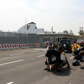 Waiting to get on the ferry in Venice
