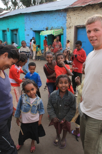 With children in Gondar
