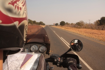 Riding through Botswana