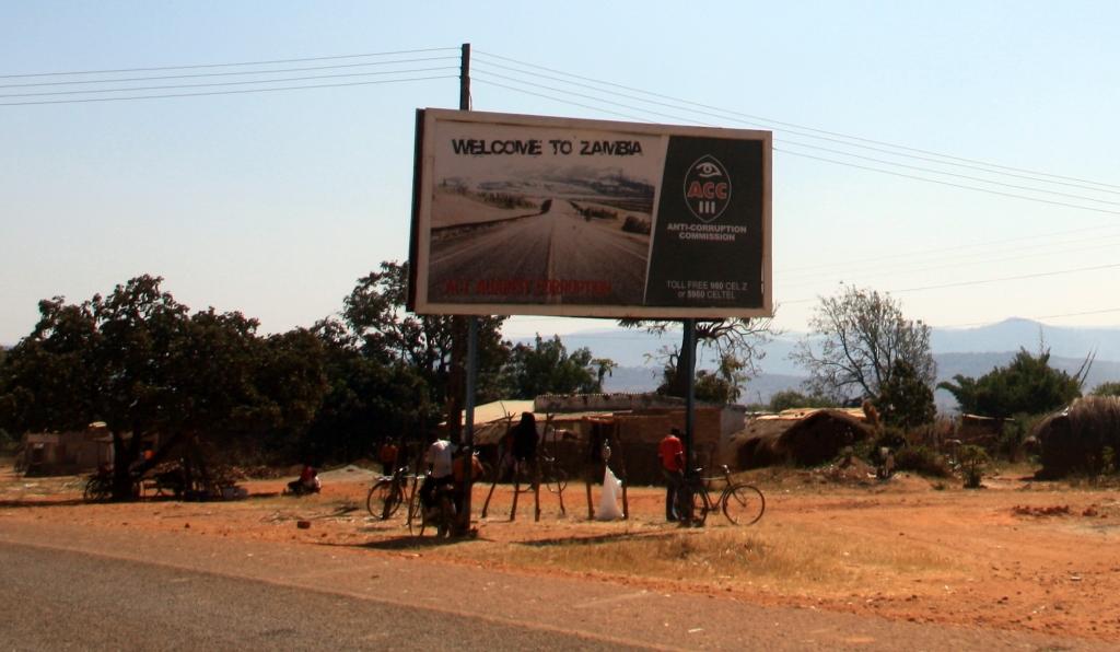 Entering Zambia
