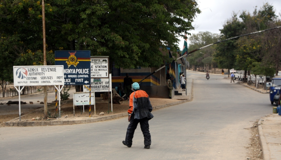 Ethiopian-Kenyan border at Moyale