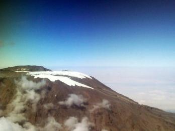 Flying over Mount Kilimanjaro in an ambulance jet