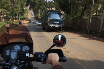 Riding through Nairobi