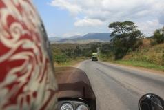 Riding through Tanzania
