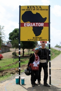 The equator in Nanyuki