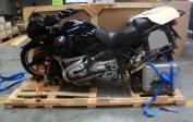 Preparing my motorbike for shipping
