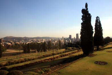 Terraced gardens at the Union Buildings in Pretoria