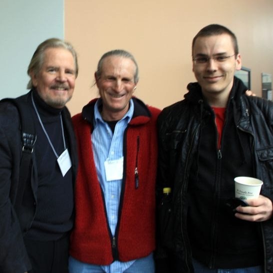 Tom Regan, Marc Bekoff, and I at the UVU Animal Ethics Conference in March/April 2010