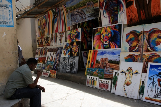Art for sale in Zanzibar, Tanzania