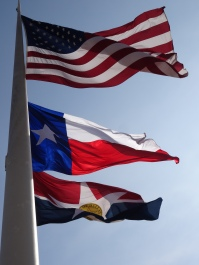 Flags of the US, Texas & Dallas