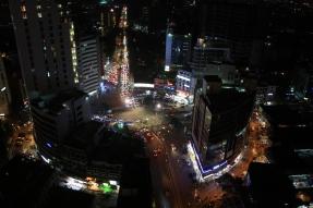 Gulshan 2 Cirlce in Dhaka at night