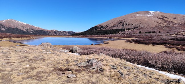 Lake near Mount Bierstadt in Colorado