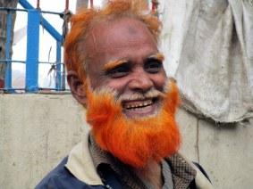 Man at Rajanigondha Market in Dhaka