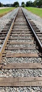 Rail tracks in Houston, Texas