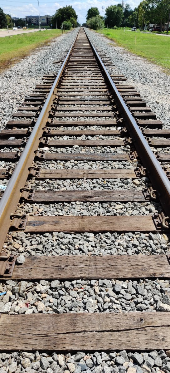 Rail tracks in Houston, Texas