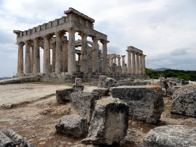 Temple of Aphaea on the Greek island of Aigina